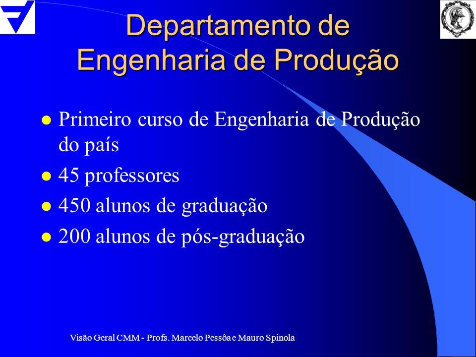 Visão Geral CMM - Profs. Marcelo Pessôa e Mauro Spinola Departamento de Engenharia de Produção l Primeiro curso de Engenharia de Produção do país l 45