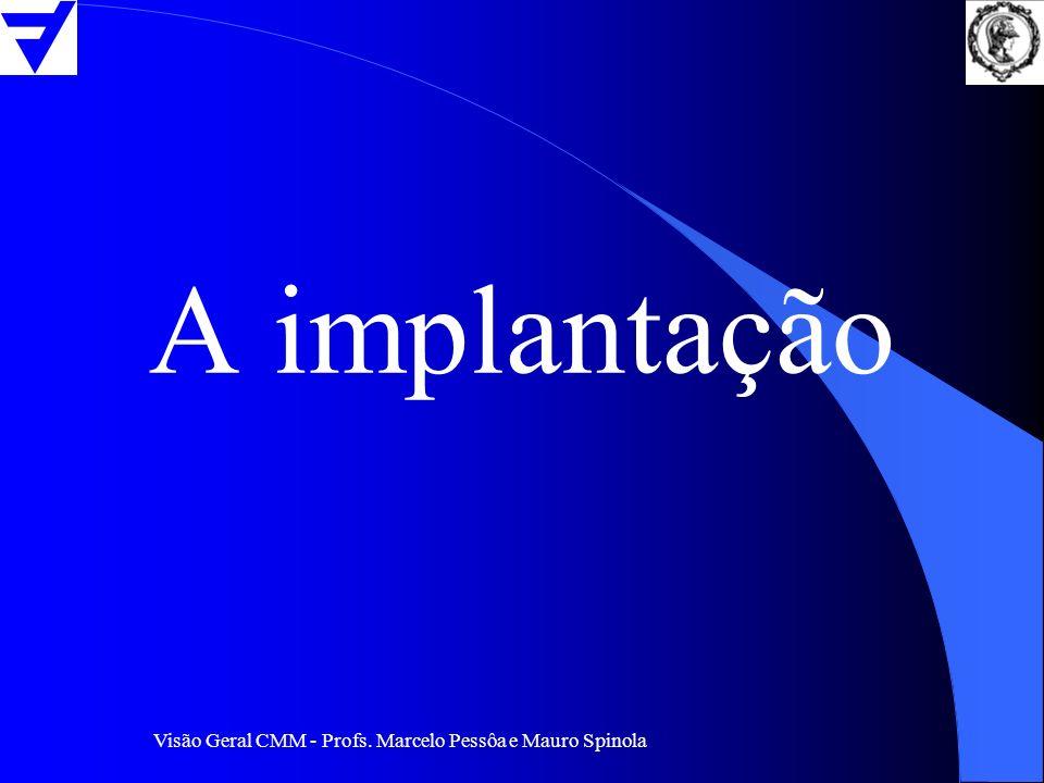Visão Geral CMM - Profs. Marcelo Pessôa e Mauro Spinola A implantação