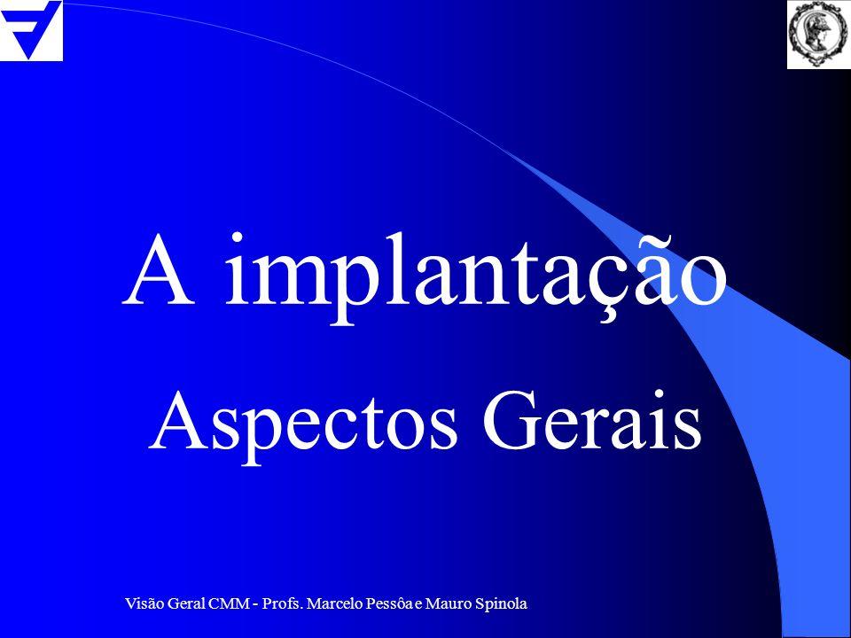 Visão Geral CMM - Profs. Marcelo Pessôa e Mauro Spinola A implantação Aspectos Gerais