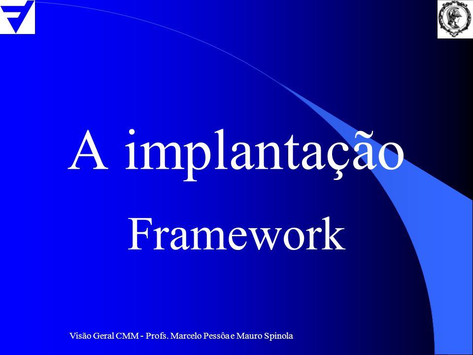Visão Geral CMM - Profs. Marcelo Pessôa e Mauro Spinola A implantação Framework