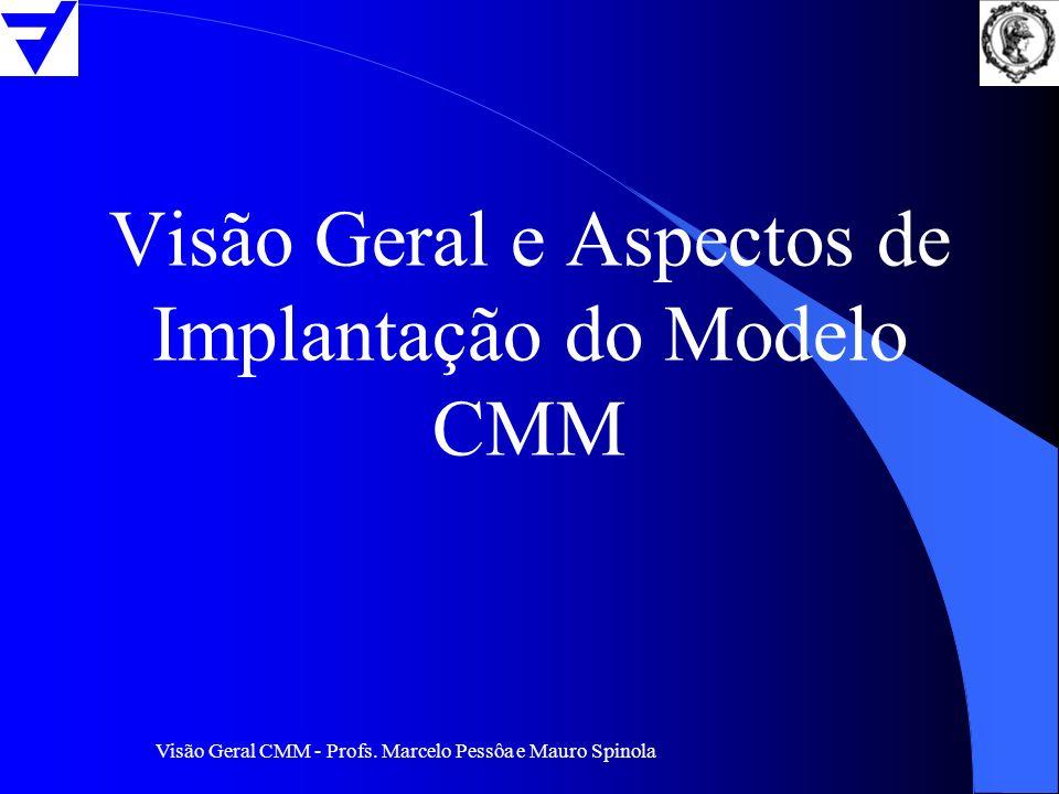 Visão Geral CMM - Profs. Marcelo Pessôa e Mauro Spinola Visão Geral e Aspectos de Implantação do Modelo CMM