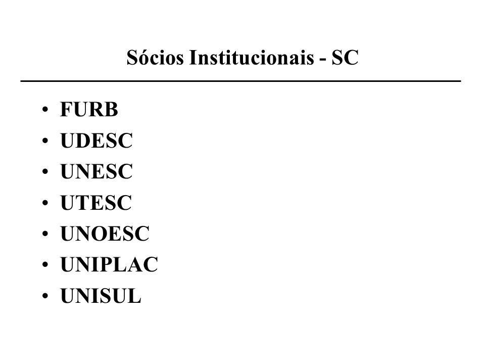 Sócios Institucionais - SC FURB UDESC UNESC UTESC UNOESC UNIPLAC UNISUL