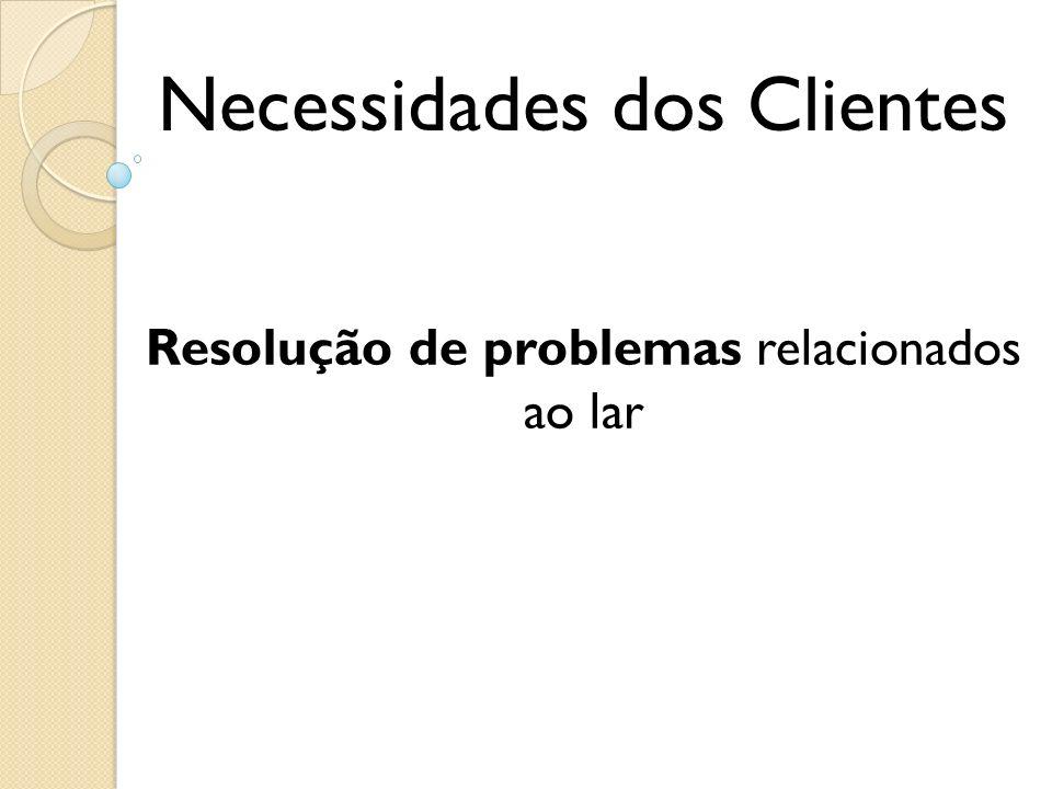 Necessidades dos Clientes Resolução de problemas relacionados ao lar