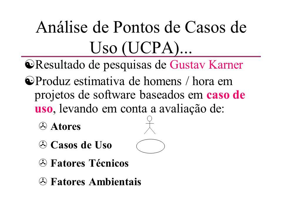 Análise de Pontos de Casos de Uso (UCPA)... [Resultado de pesquisas de Gustav Karner [Produz estimativa de homens / hora em projetos de software basea