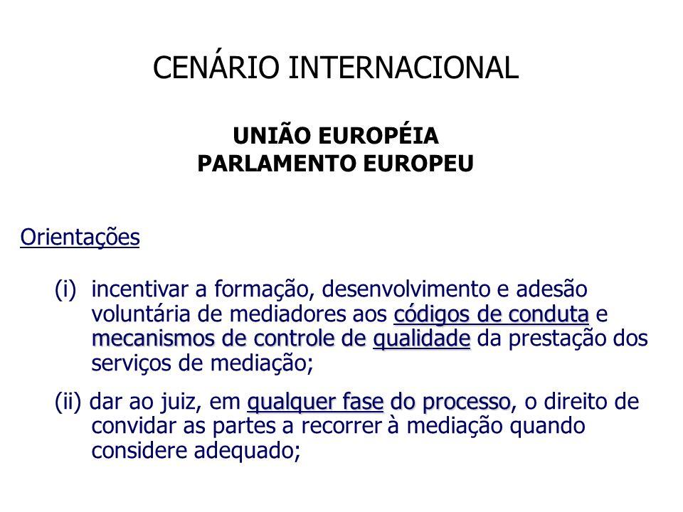 Orientações códigos de conduta mecanismos de controle de qualidade (i)incentivar a formação, desenvolvimento e adesão voluntária de mediadores aos cód