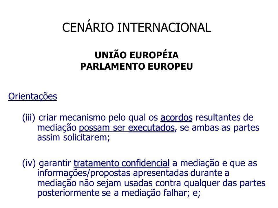 Orientações acordos executados (iii) criar mecanismo pelo qual os acordos resultantes de mediação possam ser executados, se ambas as partes assim soli