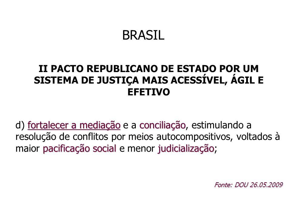 BRASIL II PACTO REPUBLICANO DE ESTADO POR UM SISTEMA DE JUSTIÇA MAIS ACESSÍVEL, ÁGIL E EFETIVO fortalecer a mediaçãoconciliação pacificação socialjudi