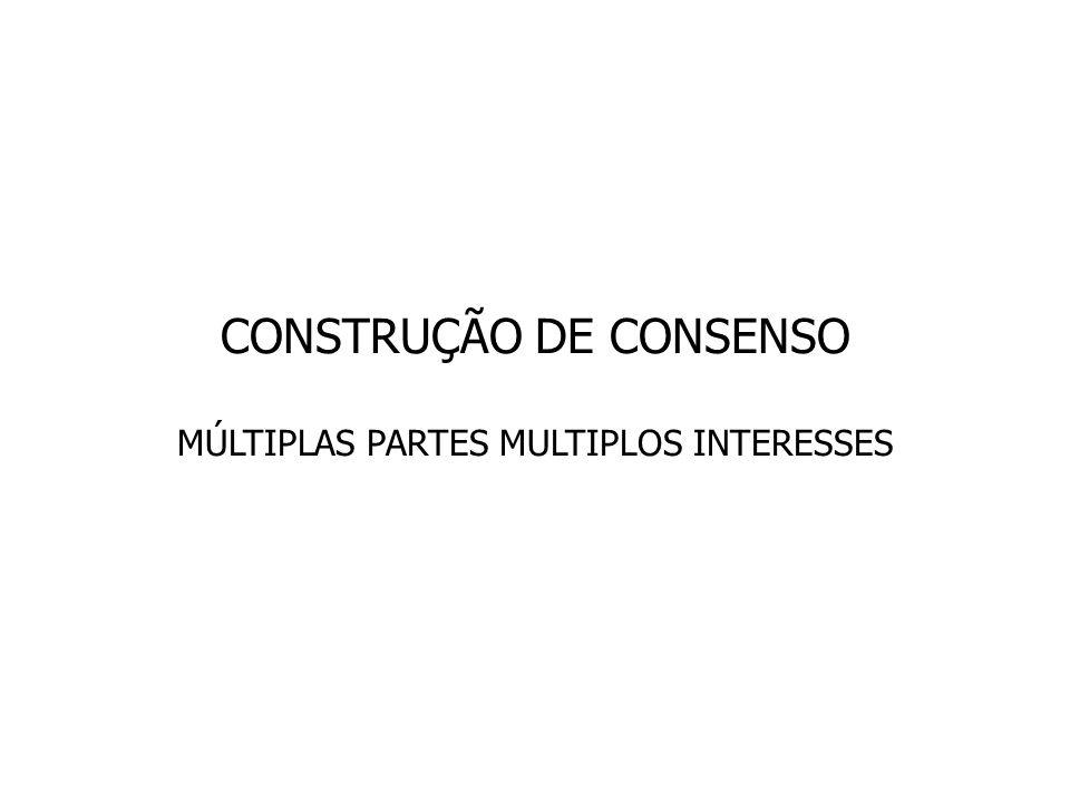 CONSTRUÇÃO DE CONSENSO MÚLTIPLAS PARTES MULTIPLOS INTERESSES
