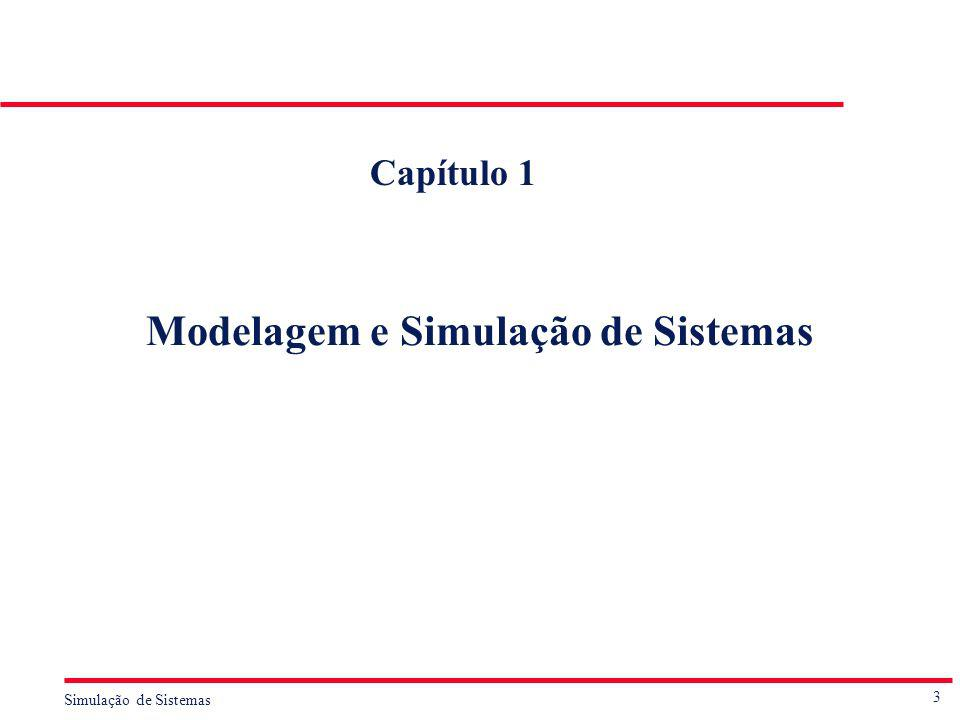 24 Simulação de Sistemas Desvantagens de Empregar a Simulação é A modelagem e a experimentação associadas a modelos de simulação consomem muitos recursos, principalmente tempo.