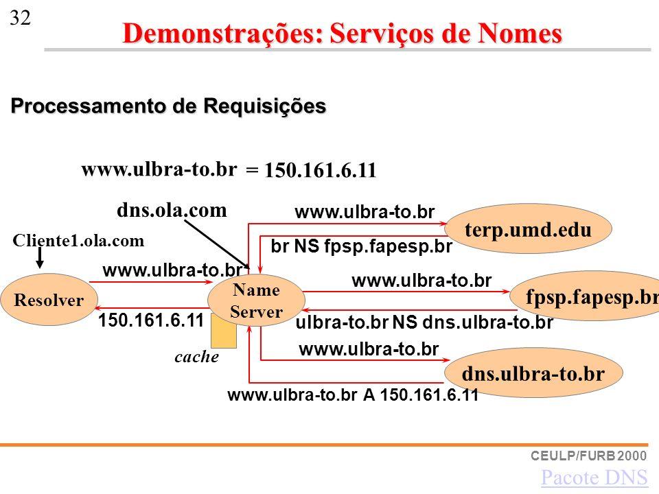 CEULP/FURB 2000 32 dns.ulbra-to.br www.ulbra-to.br br NS fpsp.fapesp.br ulbra-to.br NS dns.ulbra-to.br www.ulbra-to.br A 150.161.6.11 150.161.6.11 fps