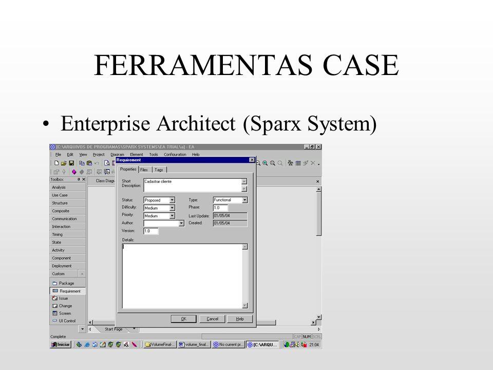FERRAMENTAS CASE Enterprise Architect (Sparx System)