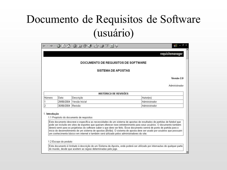 Documento de Requisitos de Software (usuário)
