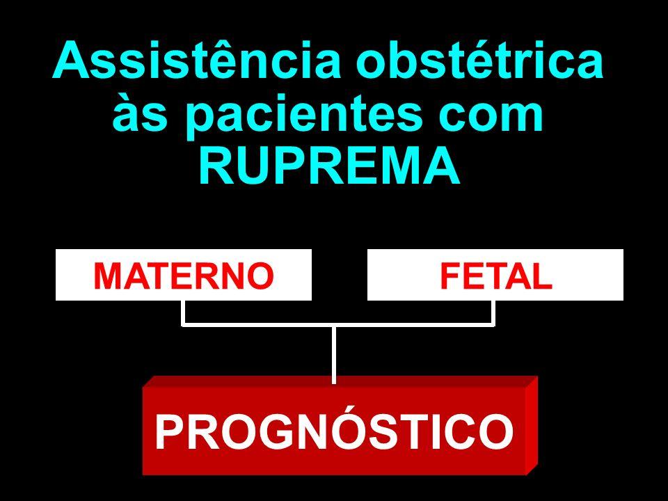 OBJETIVOS Evitar infecções maternas Não elevar o índice cesárea Assistência obstétrica às pacientes com RUPREMA Evitar infecções fetais Manejo complicações da prematuridade