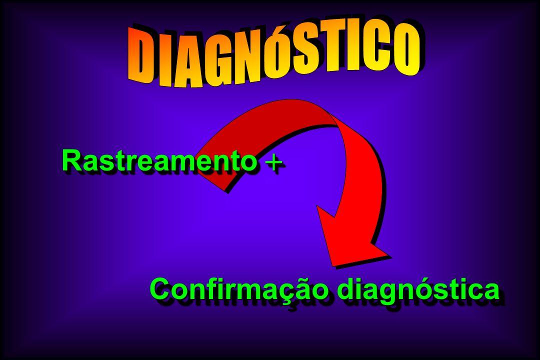 Rastreamento Rastreamento Confirmação diagnóstica