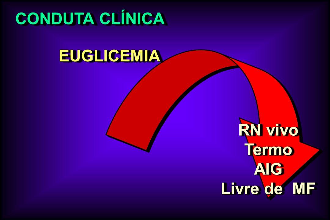 CONDUTA CLÍNICA EUGLICEMIAEUGLICEMIA RN vivo TermoAIG Livre de MF RN vivo TermoAIG Livre de MF