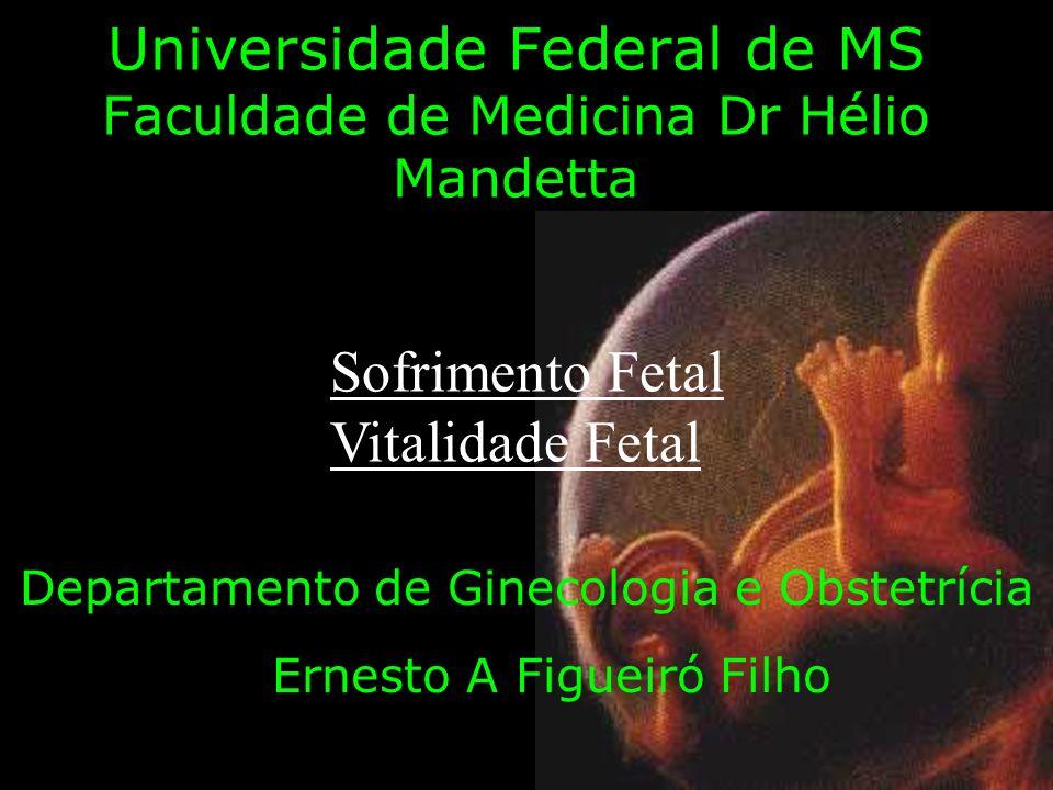 Universidade Federal de MS Faculdade de Medicina Dr Hélio Mandetta Departamento de Ginecologia e Obstetrícia Ernesto A Figueiró Filho Sofrimento Fetal Vitalidade Fetal