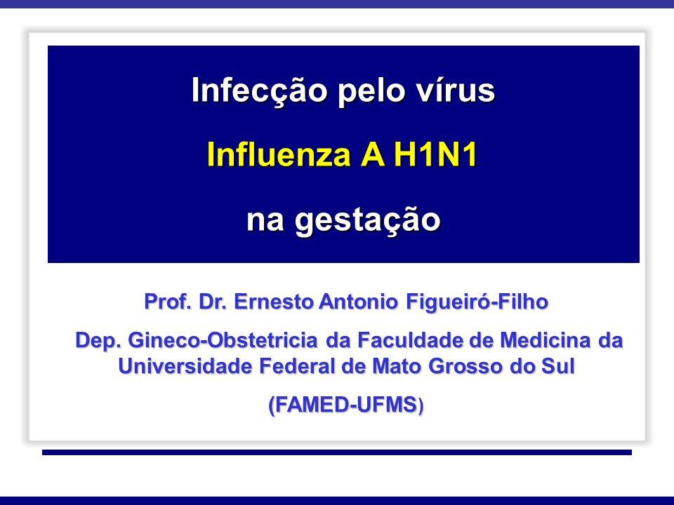 H1N1 EM GESTANTES Na epidemia de 2009, a 2ª morte documentada da infecção pandêmica pelo vírus H1N1 nos EUA foi em uma mulher grávida sem comorbidades.