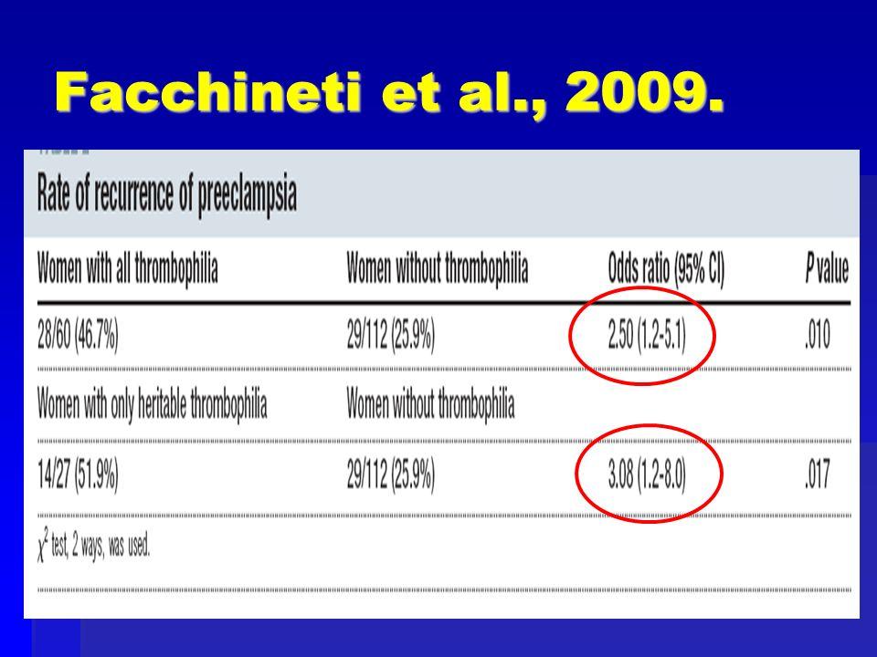 Facchineti et al., 2009.