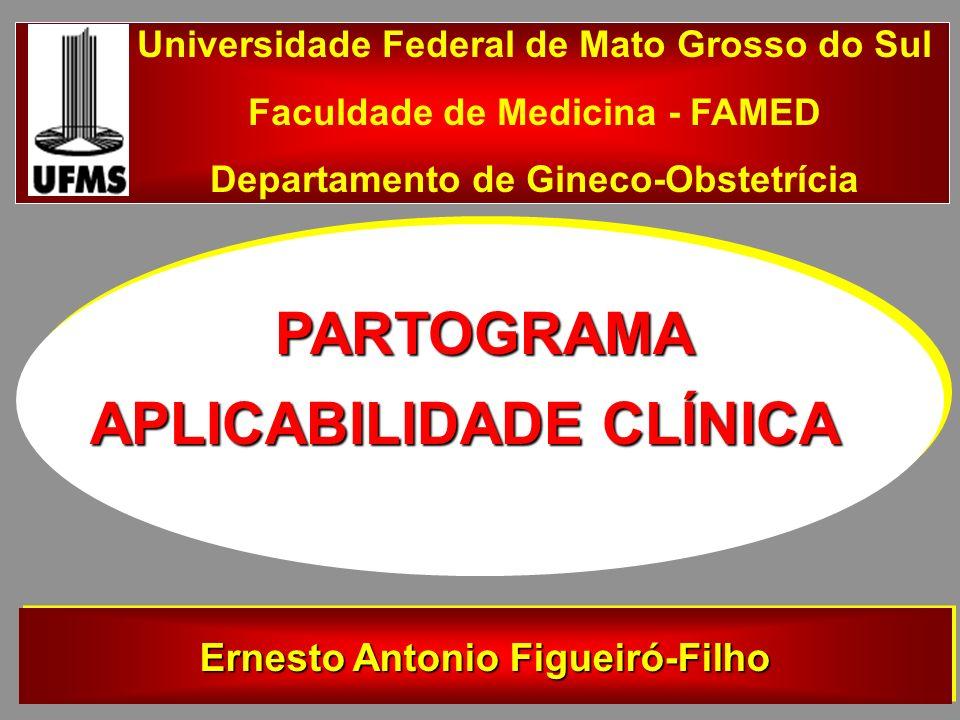 APLICABILIDADE CLÍNICA PARTOGRAMA Universidade Federal de Mato Grosso do Sul Faculdade de Medicina - FAMED Departamento de Gineco-Obstetrícia Ernesto Antonio Figueiró-Filho