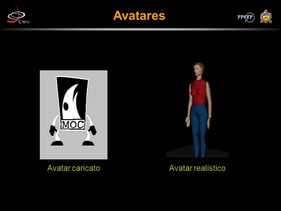 Avatares Avatar caricatoAvatar realístico