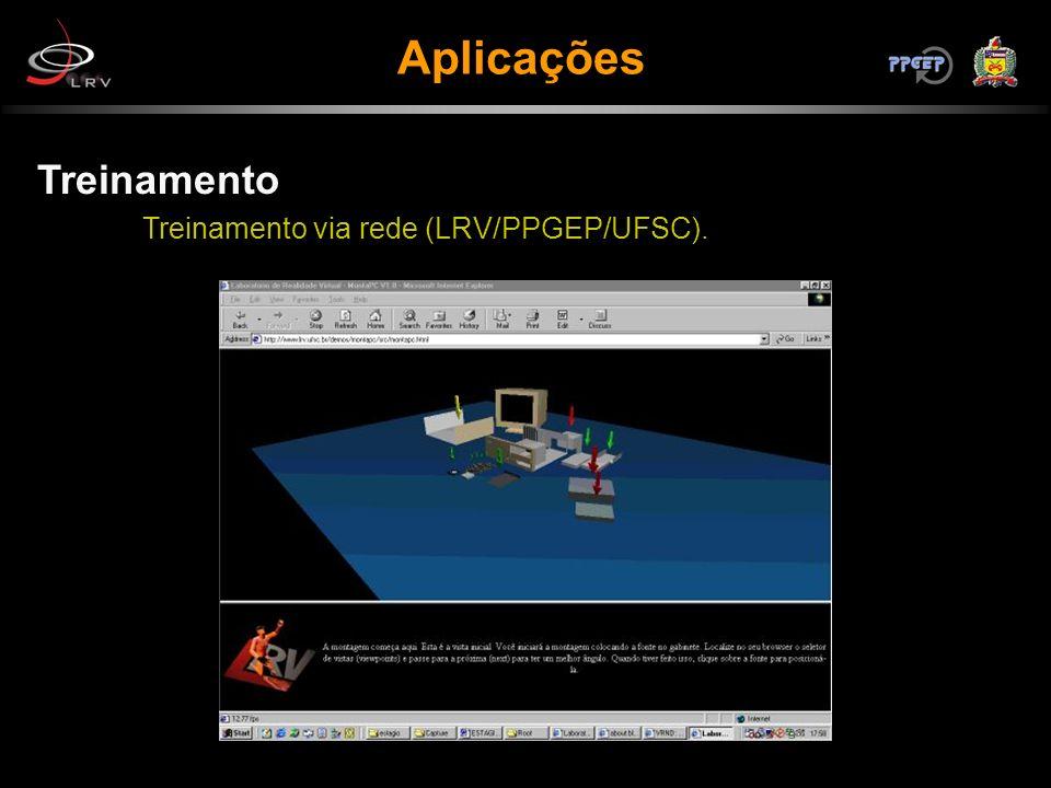 Aplicações Treinamento Treinamento via rede (LRV/PPGEP/UFSC).
