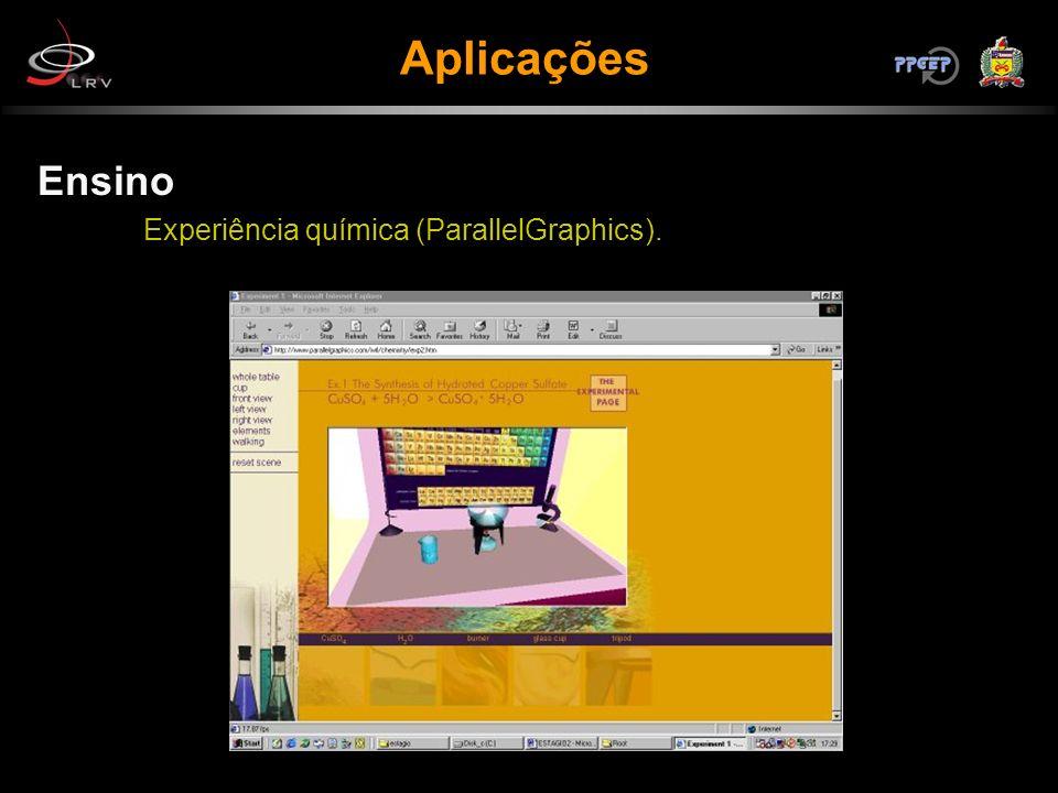 Ensino Experiência química (ParallelGraphics). Aplicações