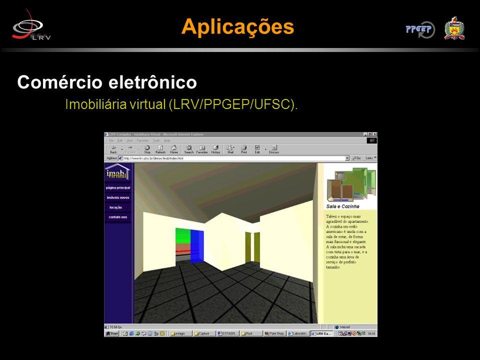 Comércio eletrônico Imobiliária virtual (LRV/PPGEP/UFSC). Aplicações