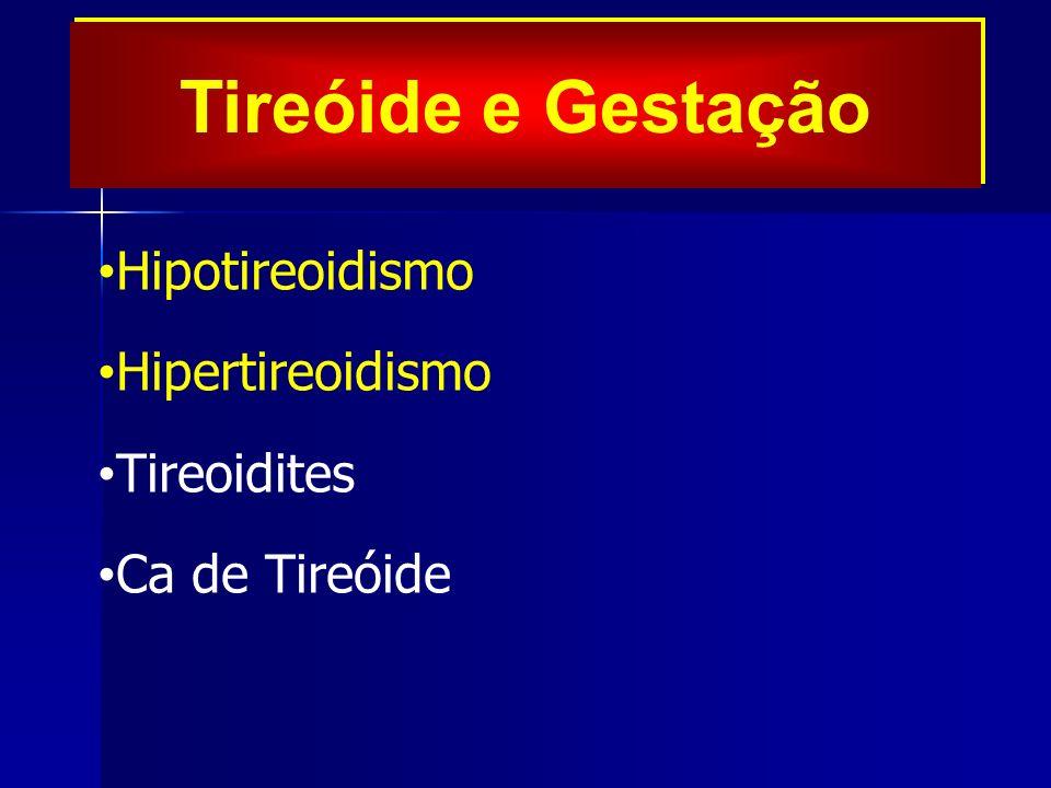 Tireóide e Gestação Hipotireoidismo Hipertireoidismo Tireoidites Ca de Tireóide