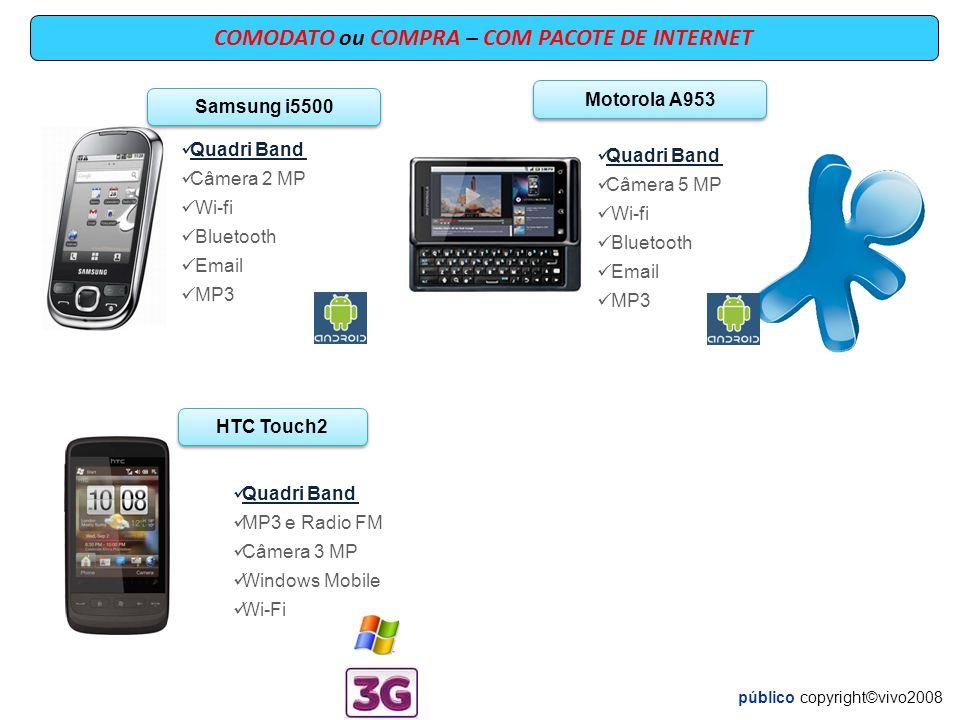 Blackberry 9780 Quadri Band Câmera 5.0 MP Wi-fi GPS RIM BLACKBERRY 9800 Quadri Band Câmera 5 MP Bluetooth E-mail GPS/WI-Fi Blackberry 9300 Quadri Band Câmera 2.0 MP wi-fi Bluetooth Email MP3 Blackberry 8520 Quadri Band MP3 e Radio FM Câmera 2.0 MP RIM Wi-Fi COMPRA – COM PACOTE DE INTERNET