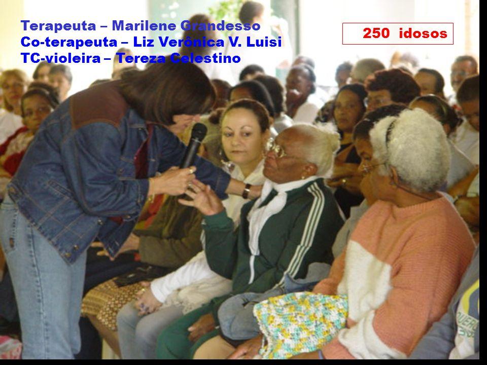 Marilene Grandesso NUFAC-PUC / INTERFACI 28 250 idosos Terapeuta – Marilene Grandesso Co-terapeuta – Liz Verônica V. Luisi TC-violeira – Tereza Celest