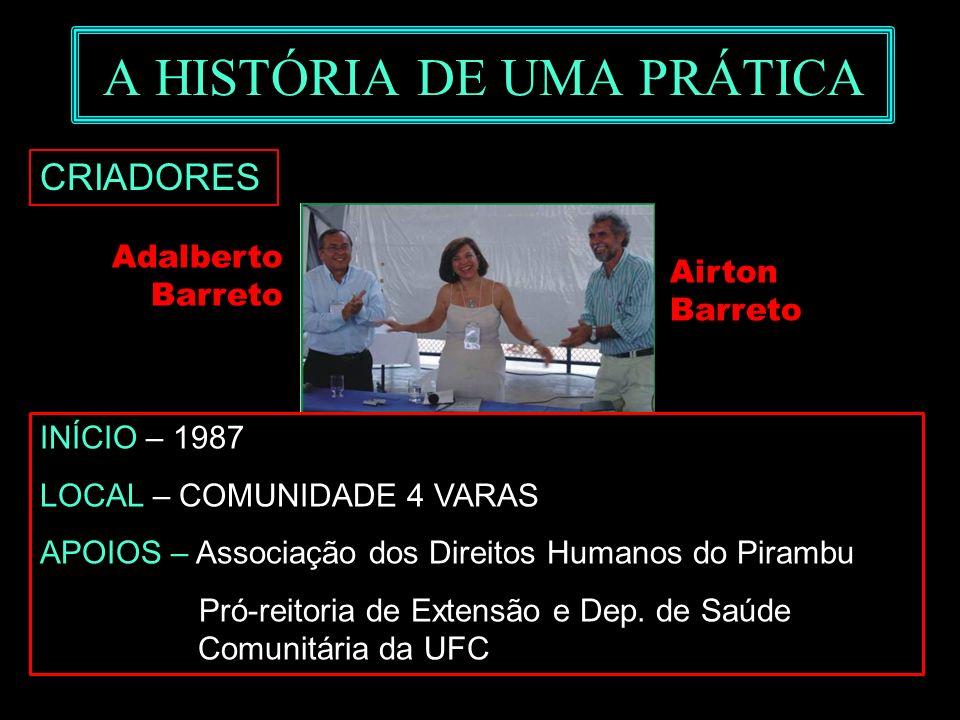 3Marilene Grandesso INTERFACI - mgrandesso@uol.com. br A HISTÓRIA DE UMA PRÁTICA Adalberto Barreto Airton Barreto CRIADORES INÍCIO – 1987 LOCAL – COMU
