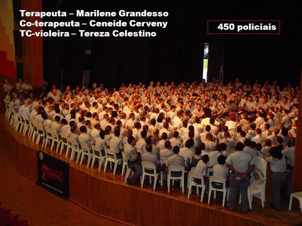 Marilene Grandesso NUFAC-PUC / INTERFACI 32 450 policiais Terapeuta – Marilene Grandesso Co-terapeuta – Ceneide Cerveny TC-violeira – Tereza Celestino