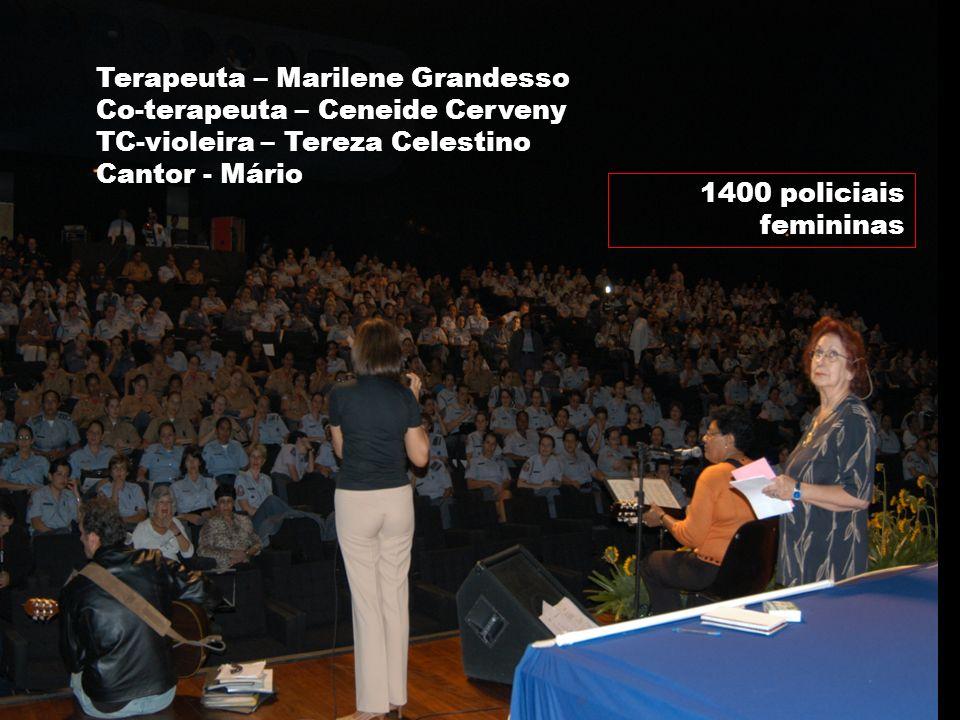 Marilene Grandesso NUFAC-PUC / INTERFACI 33 1400 policiais femininas Terapeuta – Marilene Grandesso Co-terapeuta – Ceneide Cerveny TC-violeira – Terez