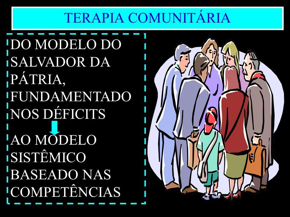 8Marilene Grandesso INTERFACI - mgrandesso@uol.com. br TERAPIA COMUNITÁRIA DO MODELO DO SALVADOR DA PÁTRIA, FUNDAMENTADO NOS DÉFICITS AO MODELO SISTÊM