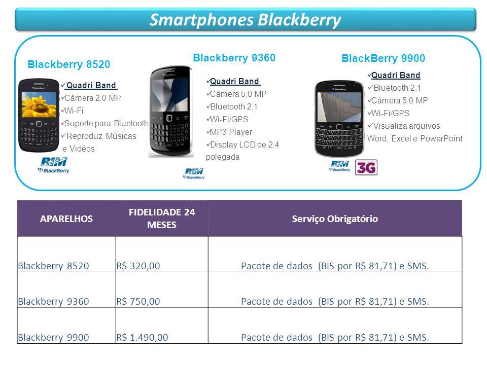 Smartphones Blackberry Blackberry 8520 Quadri Band Câmera 2.0 MP Wi-Fi Suporte para Bluetooth Reproduz Músicas e Vidéos APARELHOS FIDELIDADE 24 MESES