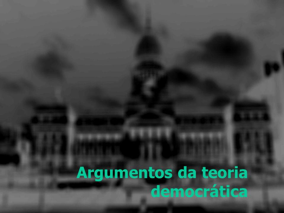 Argumentos da teoria democrática