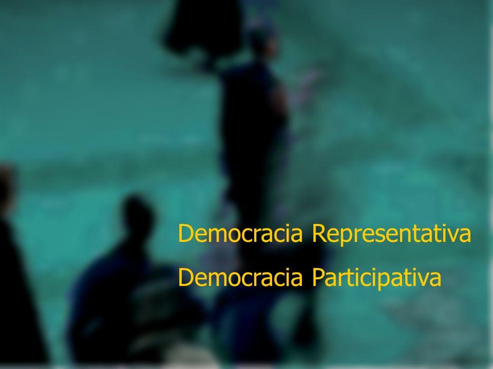 Democracia Representativa Democracia Participativa