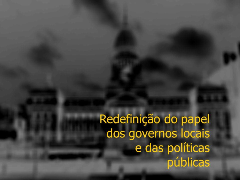 Redefinição do papel dos governos locais e das políticas públicas