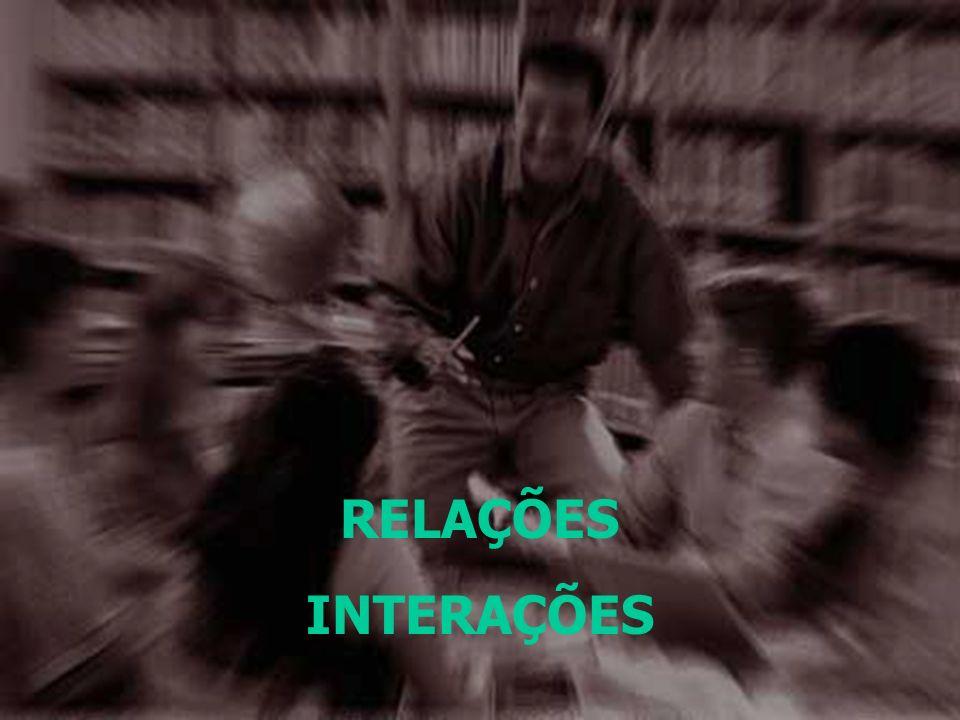 As RELAÇÕES nos permitem interagir com o espaço e os outros