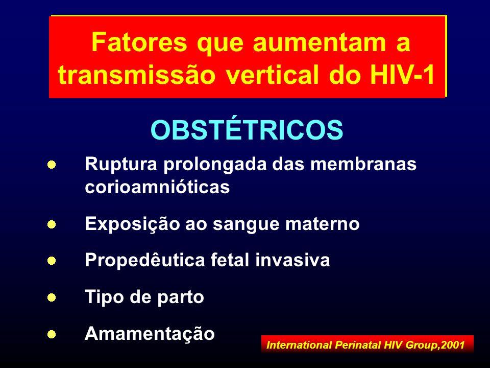 Ruptura prolongada das membranas corioamnióticas Exposição ao sangue materno Propedêutica fetal invasiva Tipo de parto Amamentação OBSTÉTRICOS Fatores