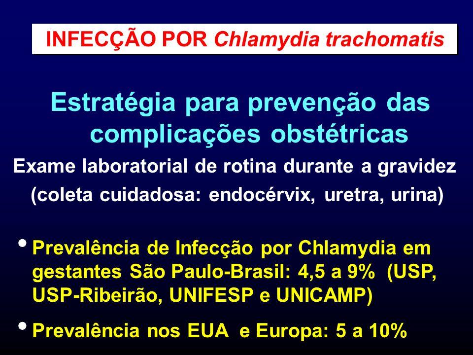 Estratégia para prevenção das complicações obstétricas Exame laboratorial de rotina durante a gravidez (coleta cuidadosa: endocérvix, uretra, urina) P