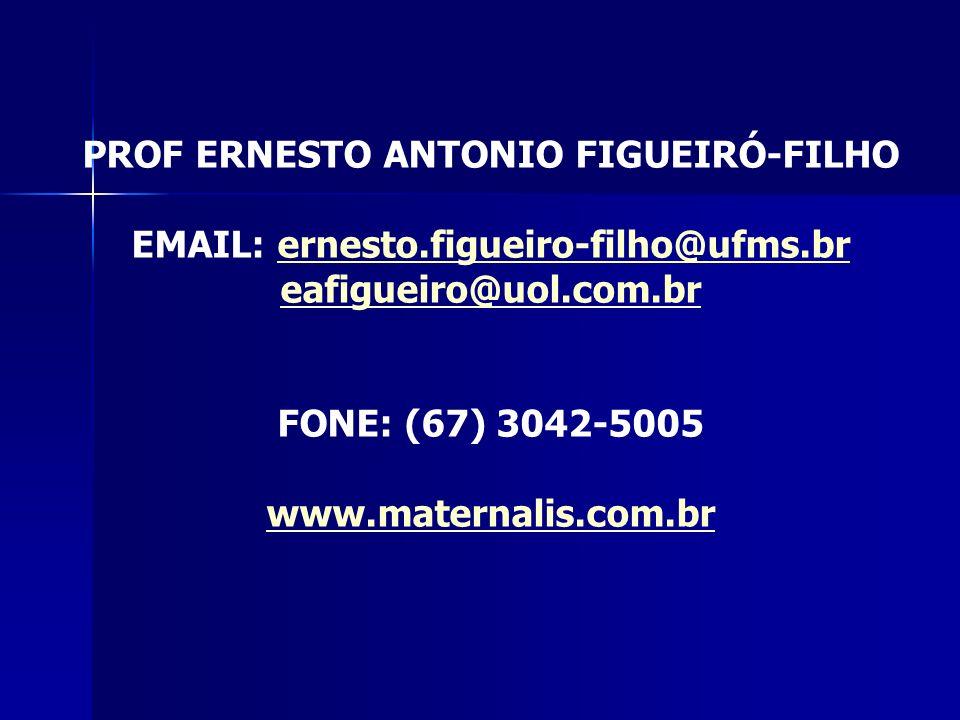 PROF ERNESTO ANTONIO FIGUEIRÓ-FILHO EMAIL: ernesto.figueiro-filho@ufms.brernesto.figueiro-filho@ufms.br eafigueiro@uol.com.br FONE: (67) 3042-5005 www.maternalis.com.br