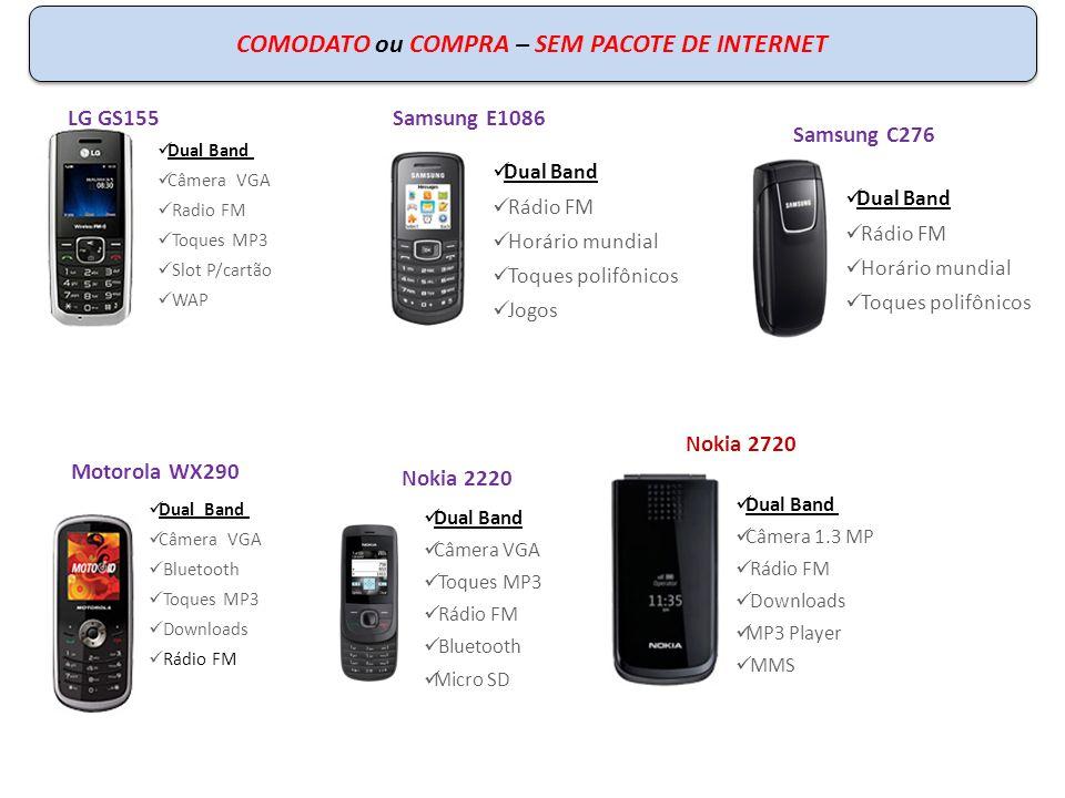 COMODATO ou COMPRA – SEM PACOTE DE INTERNET Dual Band Câmera VGA Radio FM Toques MP3 Slot P/cartão WAP LG GS155 Dual Band Rádio FM Horário mundial Toq