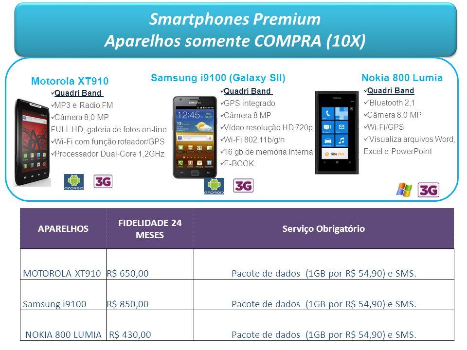 Smartphones Premium Aparelhos somente COMPRA (10X) Smartphones Premium Aparelhos somente COMPRA (10X) Samsung i9100 (Galaxy SII) Quadri Band GPS integ