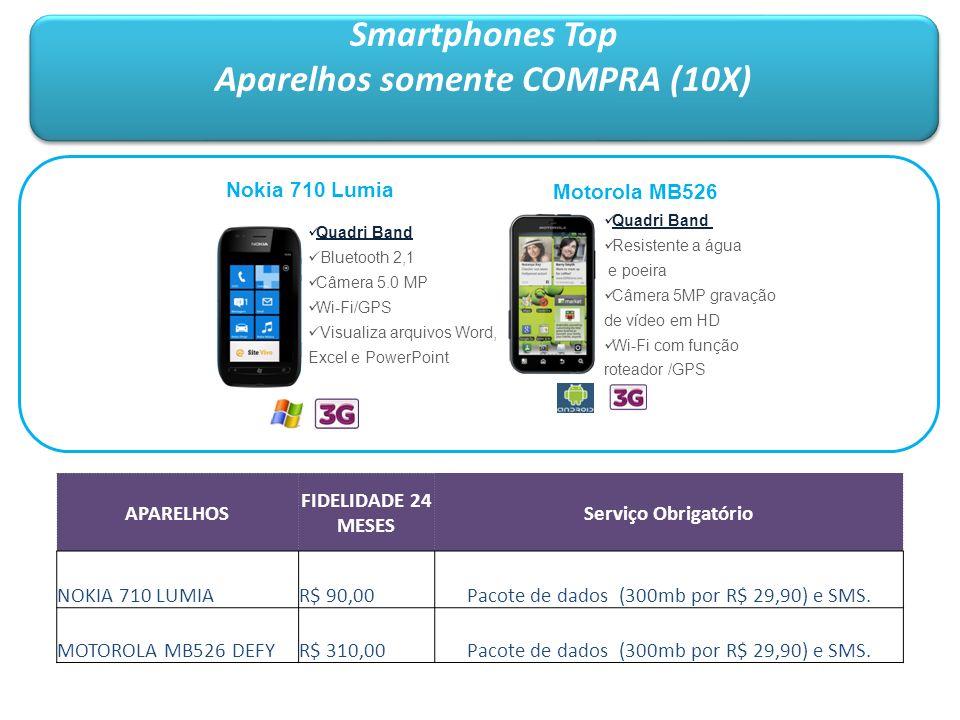 Smartphones Top Aparelhos somente COMPRA (10X) Smartphones Top Aparelhos somente COMPRA (10X) Motorola MB526 Quadri Band Resistente a água e poeira Câ