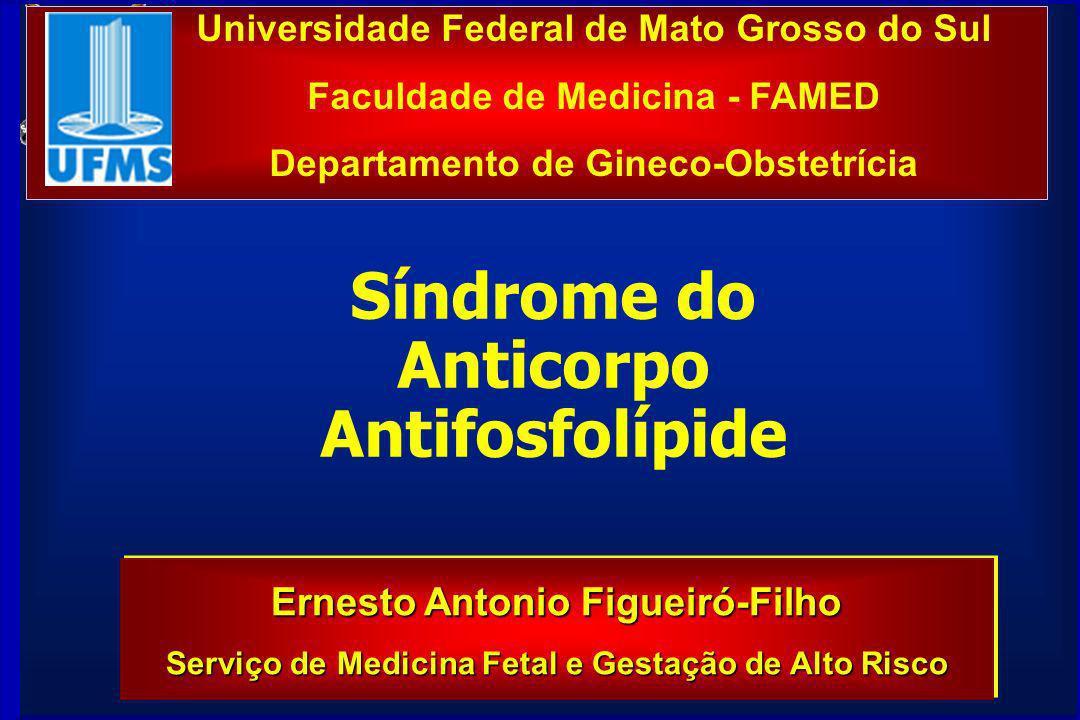 Universidade Federal de Mato Grosso do Sul Faculdade de Medicina - FAMED Departamento de Gineco-Obstetrícia Ernesto Antonio Figueiró-Filho Serviço de