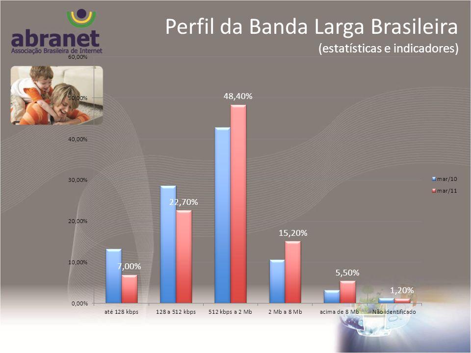 Perfil da Banda Larga Brasileira (estatísticas e indicadores) Perfil da Banda Larga Brasileira