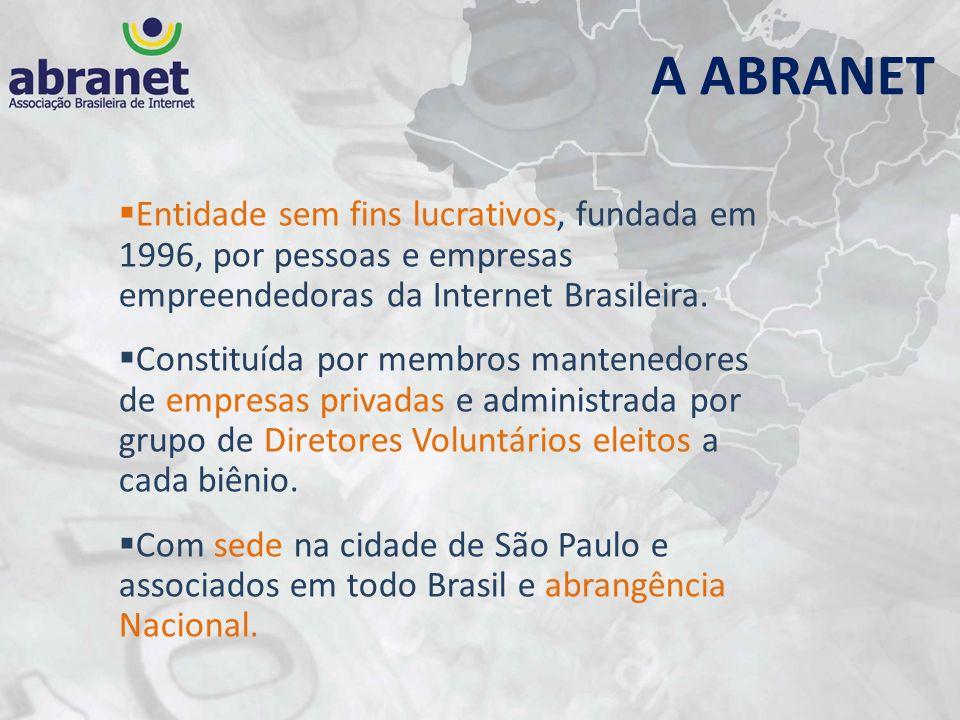 Entidade sem fins lucrativos, fundada em 1996, por pessoas e empresas empreendedoras da Internet Brasileira. Constituída por membros mantenedores de e
