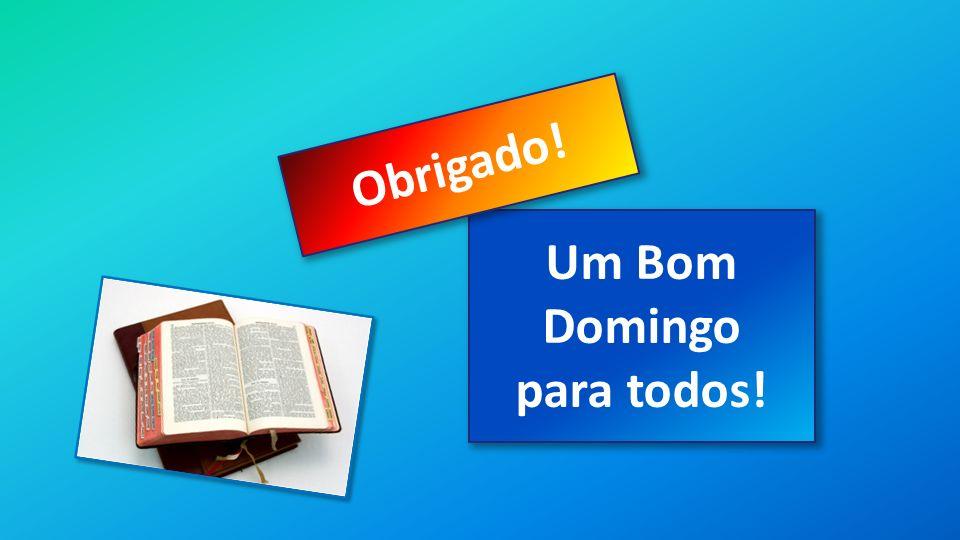 Classe Visão Bíblica IPJG - 2013 Um Bom Domingo para todos! Obrigado!