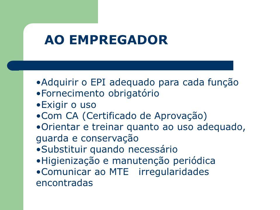 EPI -EQUIPAMENTO DE PROTEÇÃO INDIVIDUAL Uso destinado a proteção de riscos a segurança e a saúde do trabalhador